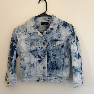 Urban Outfitters | Cropped Acid Wash Jean Jacket